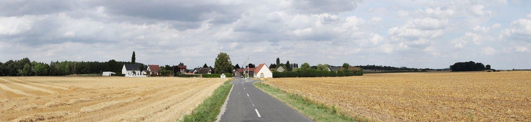 Photomontage du projet de parc éolien de Canny sur Matz